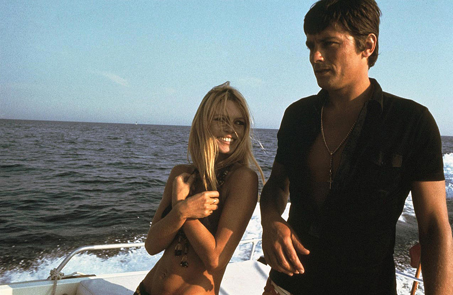 Alain Delon et Brigitte Bardot